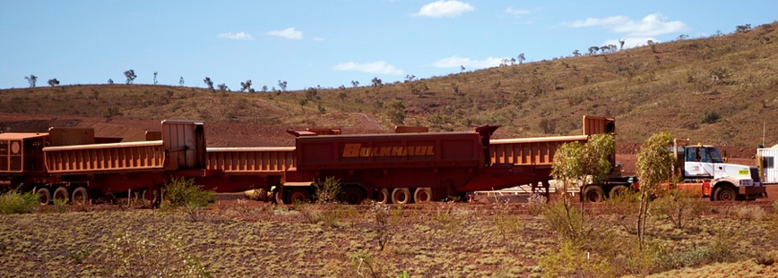 Mining road train. Credit: Michael Theis, Flickr