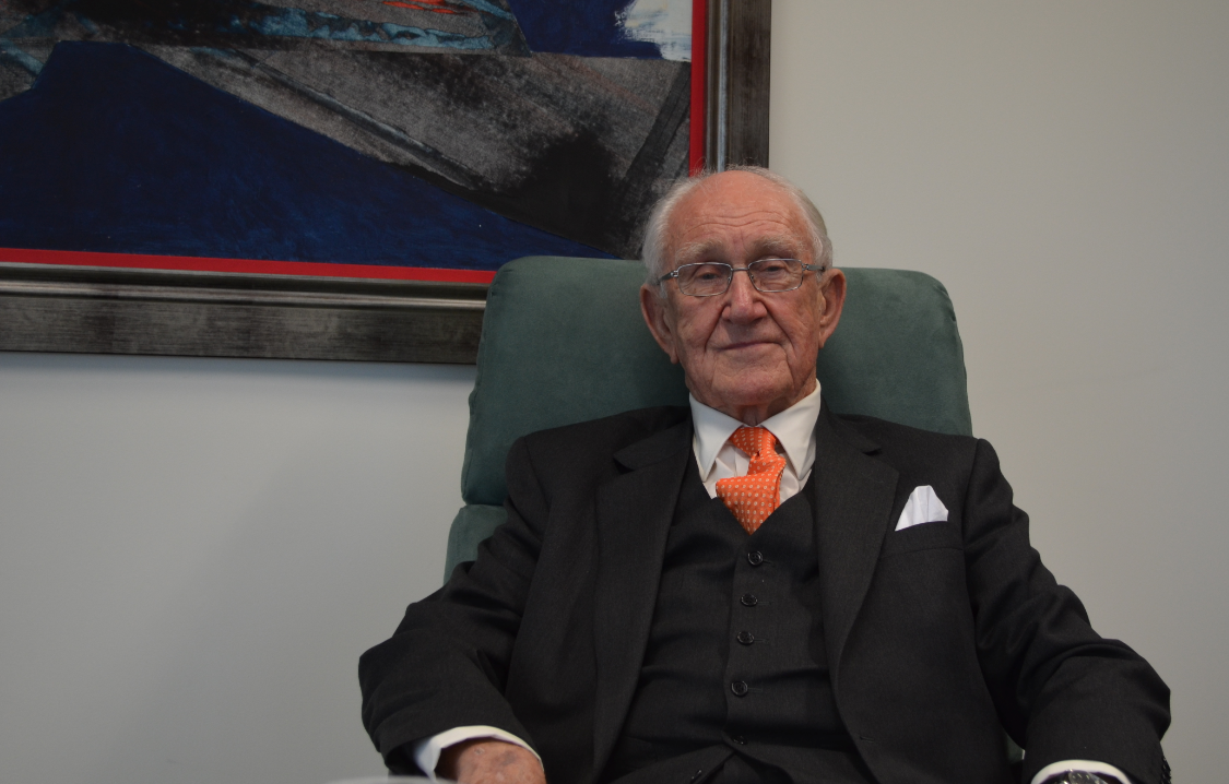 Malcolm Fraser in his Melbourne office, September 2013. Credit: Andrea Carson