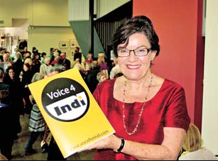 Cathy McGowan. Credit: Wangaratta Chronicle